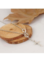 wholesale Cross Decoration Woman Necklace for Party Silver
