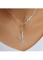 Elegant Mini Leaf Pendant Necklace