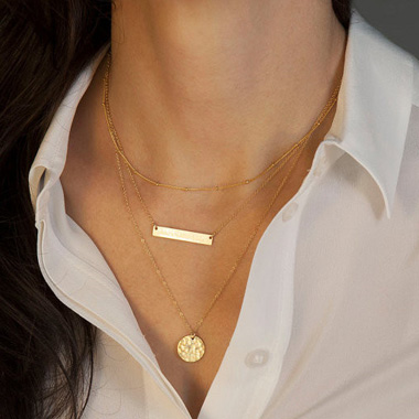 Gold Layering Necklaces Rotita