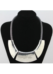 Snake Chain Silver Chunky Choker Necklace