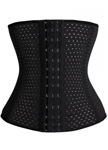 Strapless Solid Black Plus Size Corset