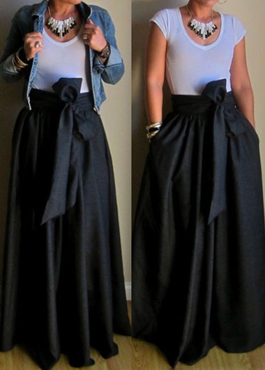 Full maxi skirt with pockets – Modern skirts blog for you