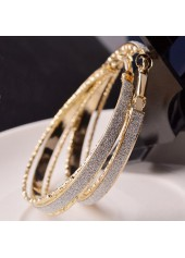Daily Casual Gold Metal Circle Earrings