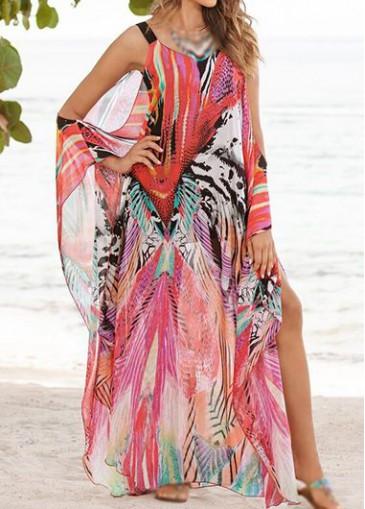 Buy online Off The Shoulder Bohemian Maxi dress