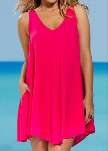 Buy online Plus Size V Neck Mini Dress