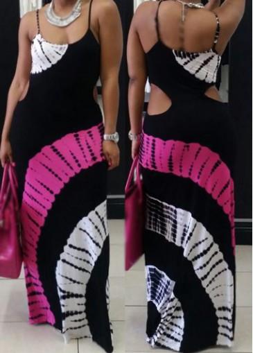 Buy online Cutout Waist Open Back Maxi Dress