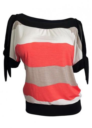 Buy online Slit Design Round Neck T Shirt
