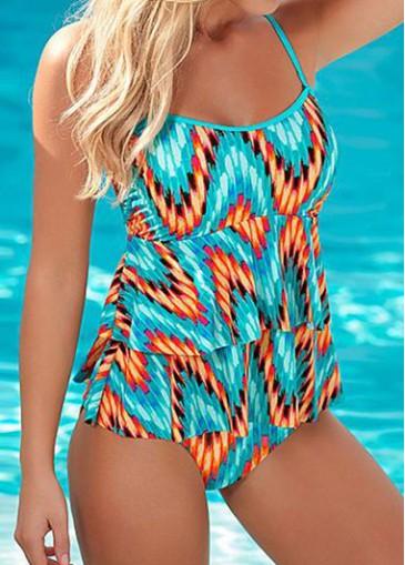 Buy online Cyan Spaghetti Strap One Piece Swimwear
