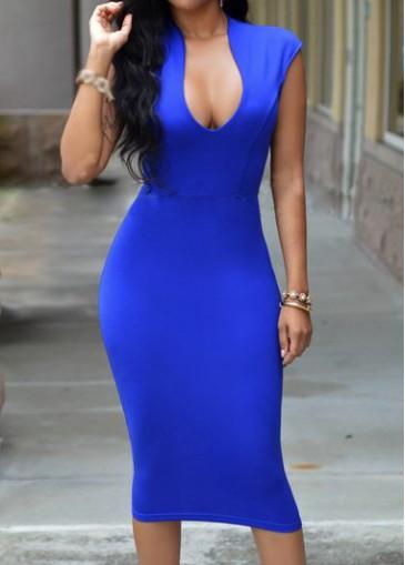 Buy online Cap Sleeve Zipper Closure Knee Length Dress