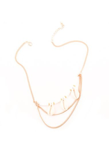Gold Metal Shell Decorated Necklace for WomanNecklaces &amp; Pendants<br><br><br>color: Gold<br>size: 37+5cm