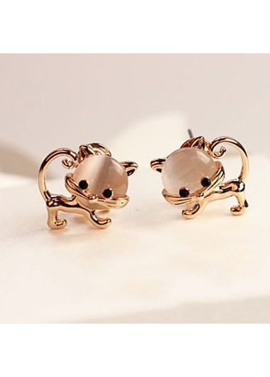 Animal Shape Design Metal Gold Metal Earrings