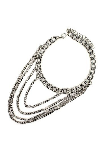 Daily Causal Silver Metal Chain Anklet