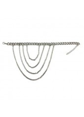 wholesale Daily Causal Silver Metal Chain Anklet