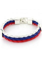 wholesale Multi Color Faux Leather Braided Bracelet