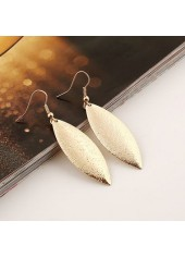 wholesale Gold Metal Leaf Shaped Earrings for Woman