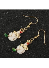 Gold-Metal-Christmas-Snowman-Pattern-Earrings-for-Woman