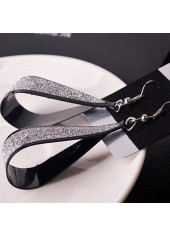 wholesale Water Drop Pattern Matting Black Earrings