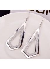Frosted-Silver-Metal-Geometry-Shape-Earrings-for-Woman