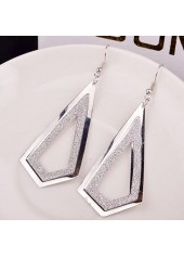 wholesale Frosted Silver Metal Geometry Shape Earrings for Woman
