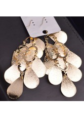 wholesale Metal Fish Scale Embellished Pendant Gold Earrings