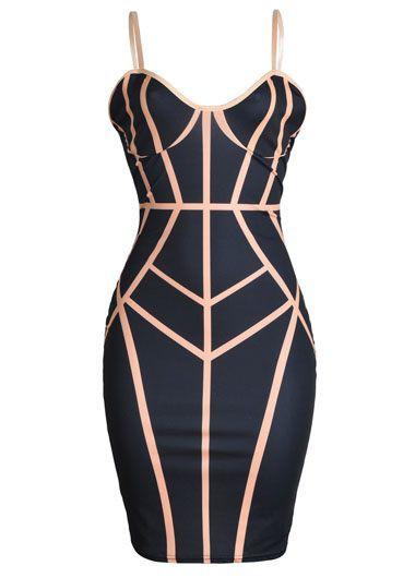 Zipper Closure Black Open Back Sheath Club DressBodycon Dresses<br><br><br>color: Black<br>size: S,M,L,XL