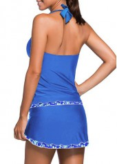 wholesale Open Back Top and Royal Blue Pantskirt