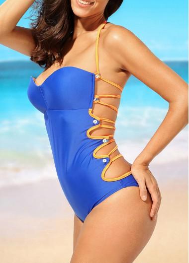 Royal-Blue-Open-Back-Padded-One-Piece-Swimwear