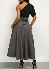 wholesale One Shoulder Top and Belted High Waist Skirt