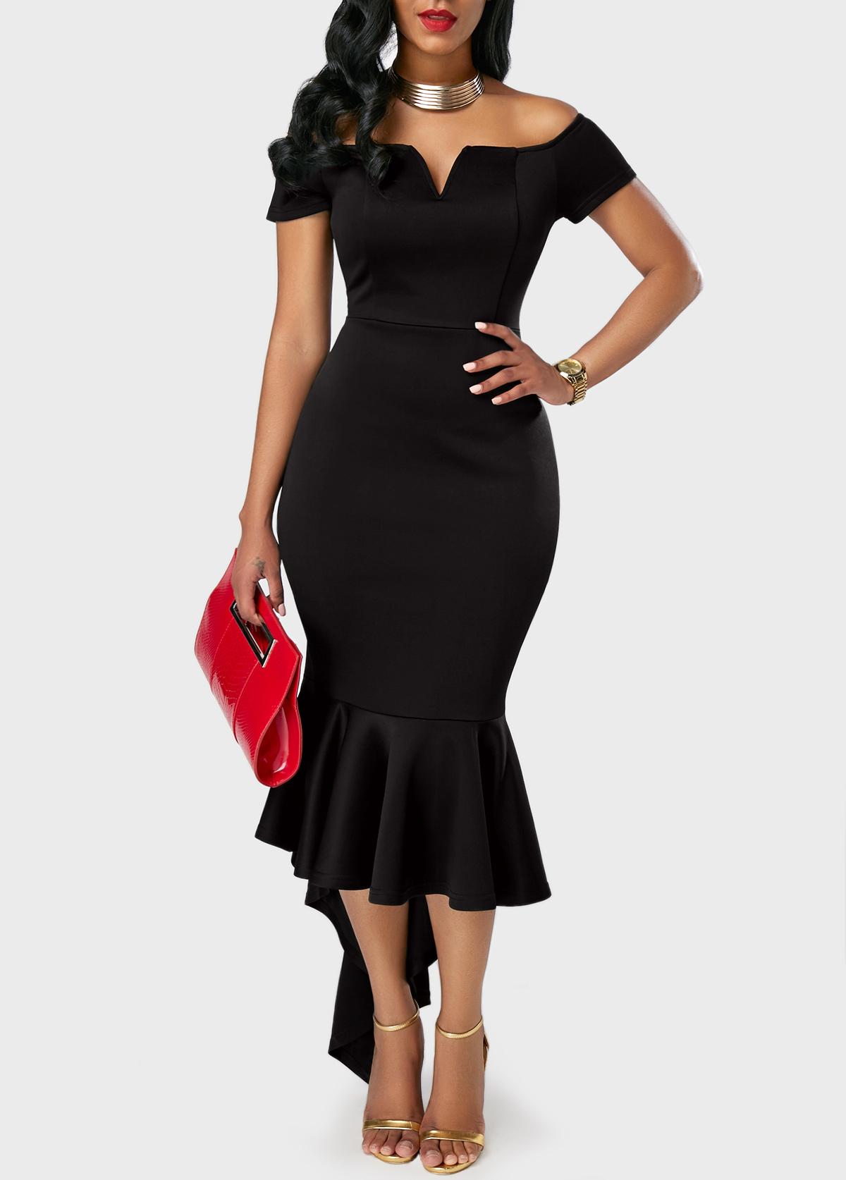 Вечернее платье с воланом | Rotita