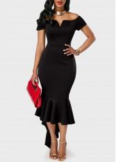 Short-Sleeve-High-Waist-Flounce-Mermaid-Dress