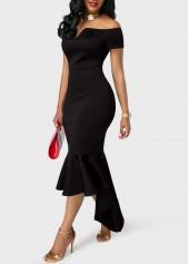 wholesale Short Sleeve High Waist Flounce Mermaid Dress