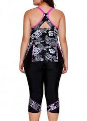 be7c5b065757b Plus Size Printed Cutout Top and Swimwear Cropped Pants | Rotita.com ...