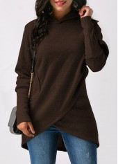 Long-Sleeve-Asymmetric-Hem-Coffee-Hoodie