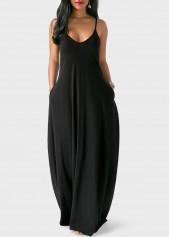 Spaghetti-Strap-Pocket-Design-Maxi-Dress