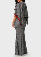wholesale Printed High Waist V Neck Mermaid Dress