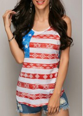 wholesale Star and Stripe Print Tank Top