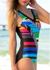 wholesale Open Back Printed Padded One Piece Swimwear