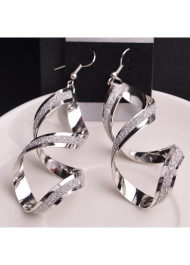 Twist Design Metal Earrings for Woman