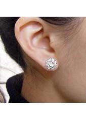 wholesale Sunflower Shape Rhinstone Ear Stud for Woman