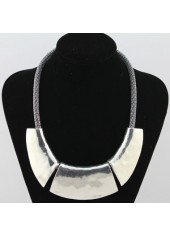 Snake-Chain-Silver-Chunky-Choker-Necklace