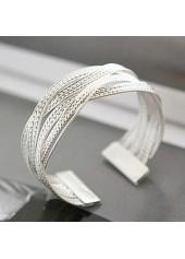 Silver-Metal-Twist-Decorated-Wide-Bracelet