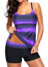 Strappy-Back-Printed-Purple-Tankini-Top-and-Shorts