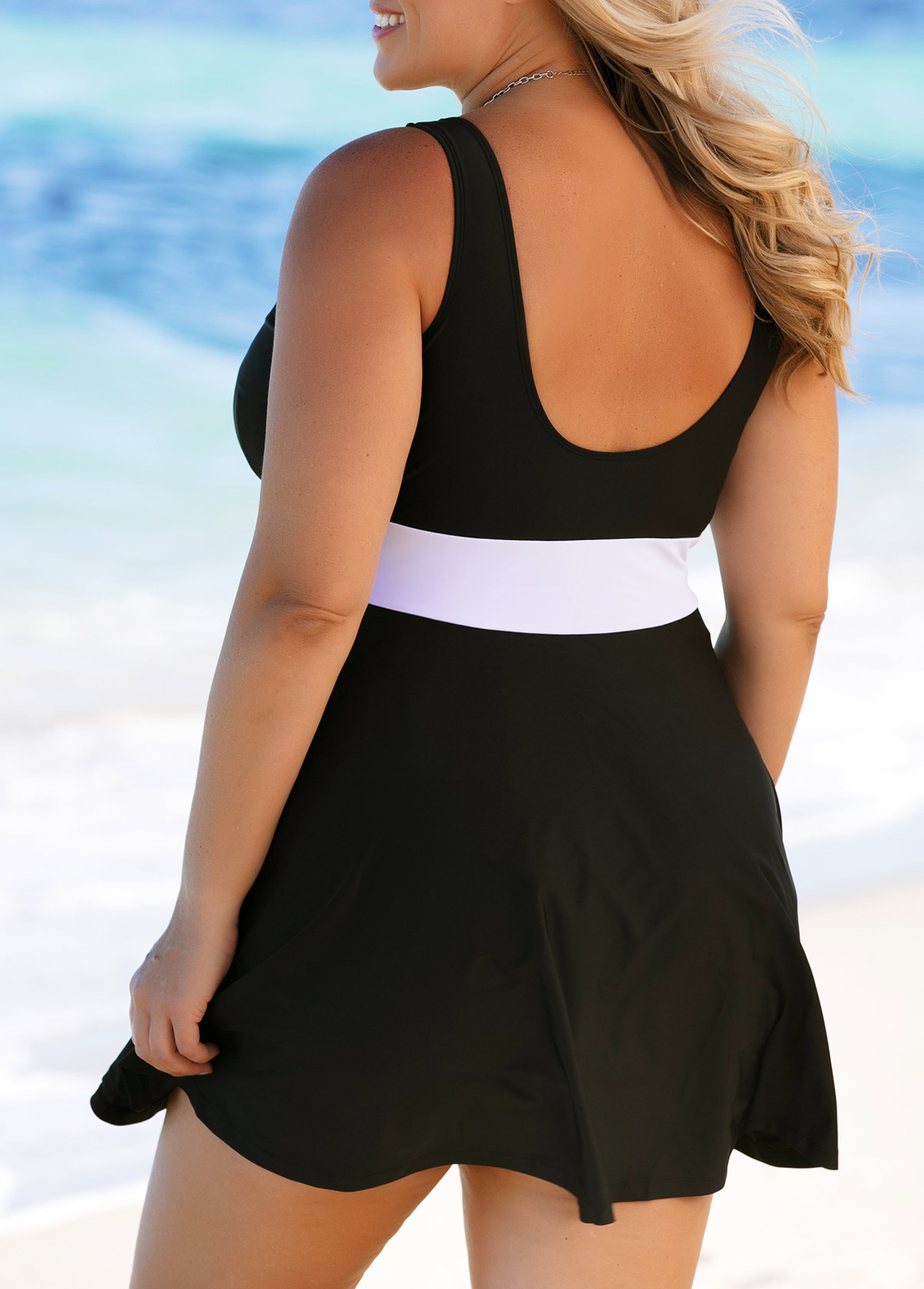 a7f6302a113 Plus Size Scoop Back Black Swimdress and Panty. AddThis Sharing Buttons.  Share to Facebook Share to Pinterest