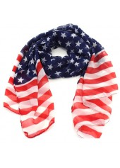 Star-and-Stripe-Print-Women-Scarf