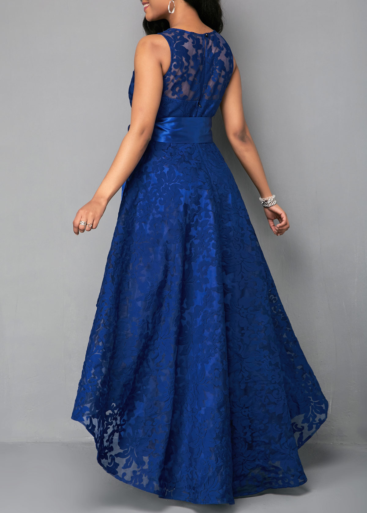 3e09dbaed2 Belted High Waist Lace Panel Maxi Dress. AddThis Sharing Buttons. Share to  Facebook Share to Pinterest