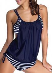 wholesale Spaghetti Strap Navy Blue Top and Panty Swimwear
