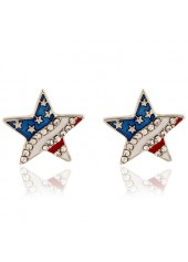 Star-Shape-Design-Rhinestone-Embellished-Earrings