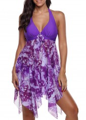 Asymmetric-Hem-Printed-Halter-Swimdress-and-Panty