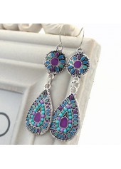 Drop-Shape-Bead-Embellished-Dangle-Earrings