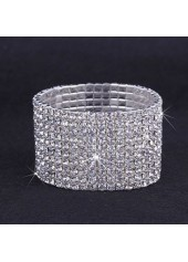 Rhinestone-Decorated-Silver-Metal-Wide-Bracelet-for-Woman